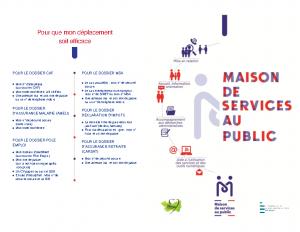 Dépliant Maison de Service au Public