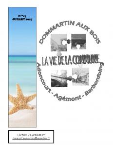 La Vie de la Commune n° 17 – Juillet 2017