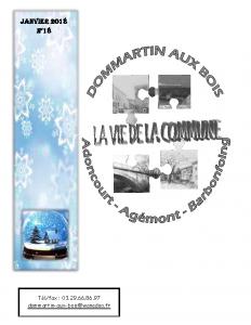 La Vie de la Commune n° 18 – Janvier 2018