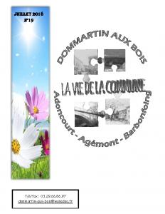La Vie de la Commune n° 19 –  Juillet 2018