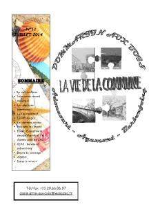 de la Commune n° 11 – 1ère partie – Juillet 2014