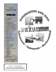 La Vie de la Commune n° 13 – Juillet 2015