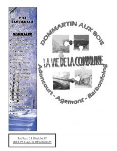 La Vie de la Commune n° 14 – Janvier 2016