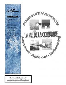 La Vie de la Commune n° 16 – Janvier 2017