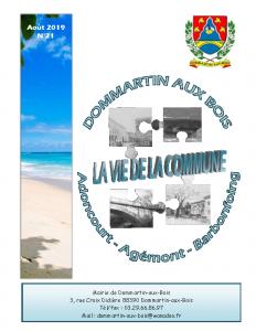 La Vie de la Commune n° 21 – Août 2019