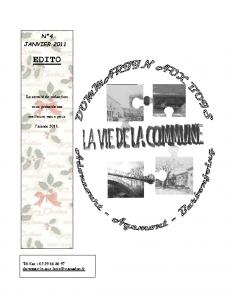 La Vie de la Commune n°4 – Janvier 2011