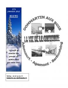 La Vie de la Commune n° 6 – Janvier 2012