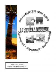La Vie de la Commune n° 7 – Juillet 2012