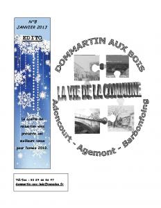 La Vie de la Commune n°8 – Janvier 2013