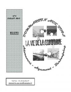 La Vie de la Commune n° 3 – Juillet 2010