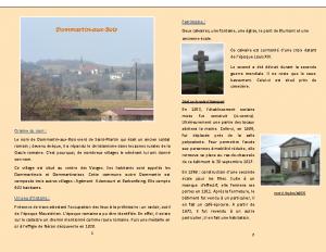 Plaquette du patrimoine de Dommartin-aux-Bois