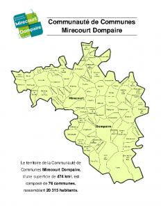 Carte du territoire de la Com com
