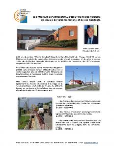 Présentation du SDEV et ses réalisations