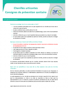 Fiche prévention chenilles urticantes ARS
