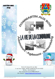 La vie de la Commune n° 22 – Janvier 2021
